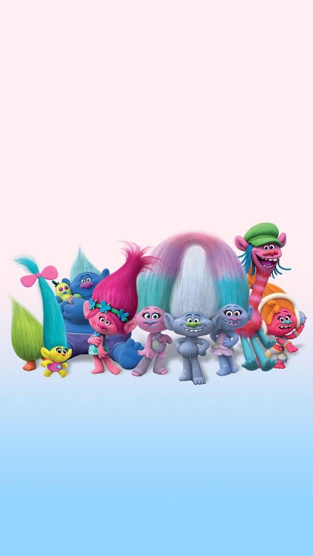 Wallpaper iPhone/cute/cartoons/trolls ⚪