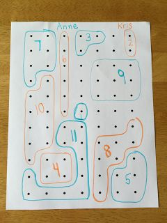 Simple dot paper activities that students ask to play again and again.  Great for building number sense.