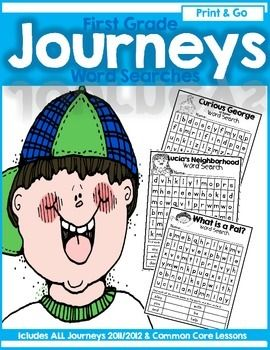 Journeys First Grade Print and Go High Frequency Word (Sig