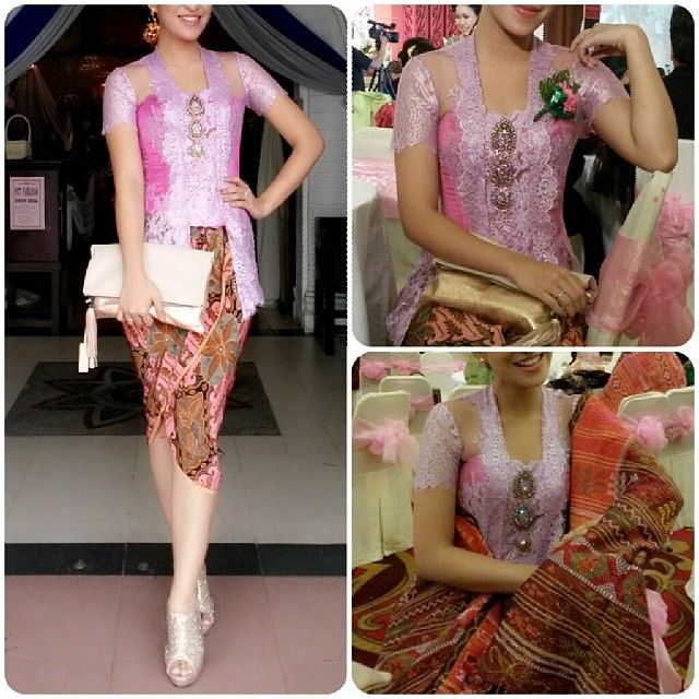 kebaya with ulos