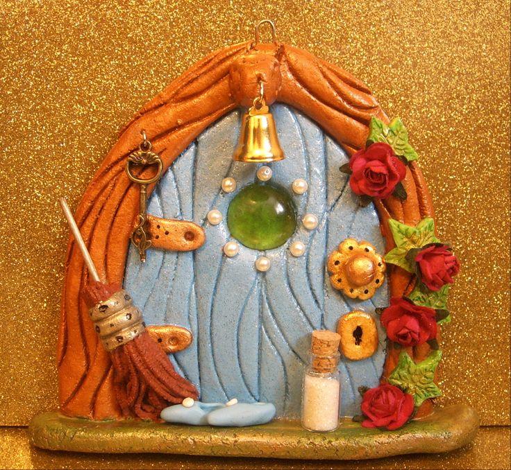 salt dough fairy door - Facebook.com/craftydough... I made them!