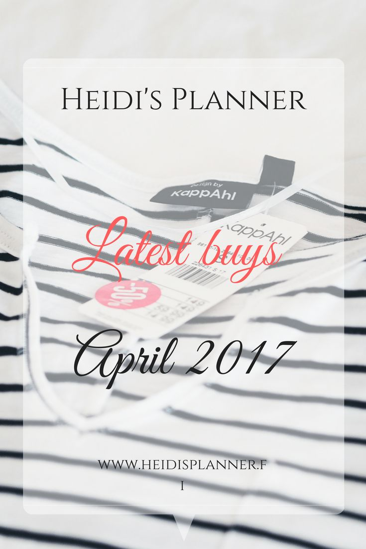 Sometimes shopping trips are just the best! What do you thing of my latest buys? |www.heidisplanner.fi