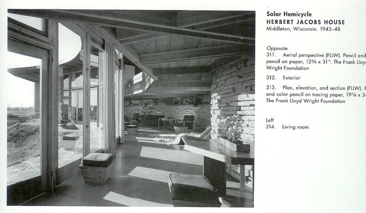 Herbert and Katherine Jacobs Second Residence (1944) Middleton, Wisconsin Photos by Others