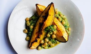 Nigel Slater's baked pumpkin and spiced chickpeas recipe | Life and style | The Guardian