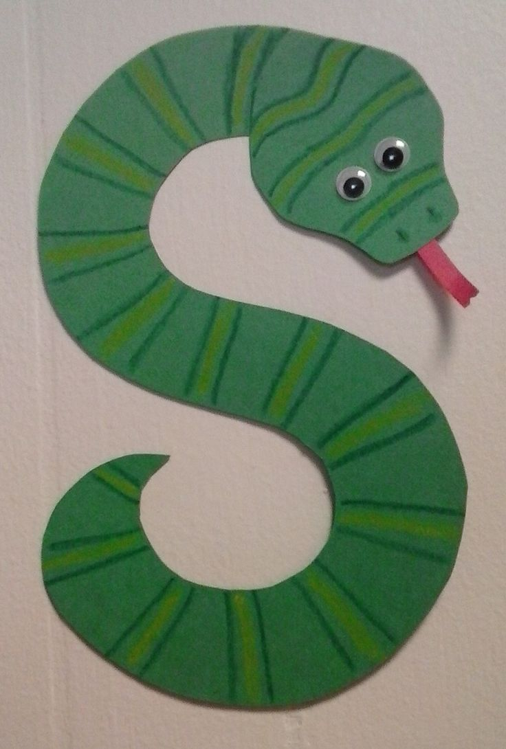 Letter s arts and crafts for preschoolers - Preschool Letter S S Is For Snake