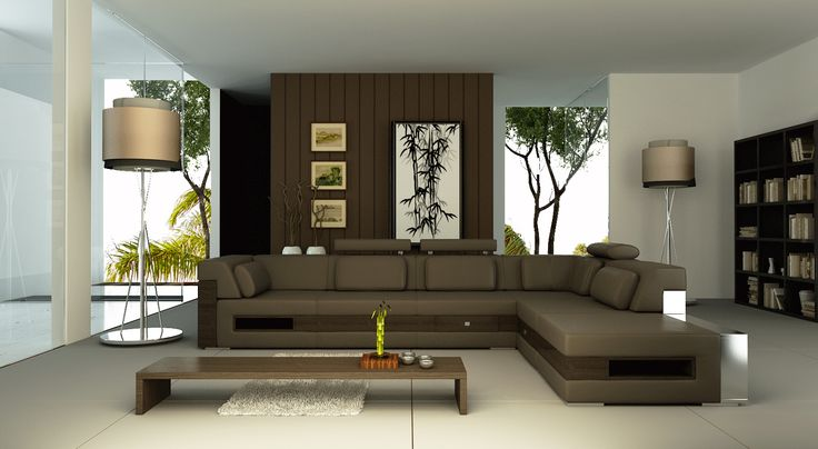 ... light-brown-floor-lamps-gray-floor-tile-white-wall-dark-brown-wall