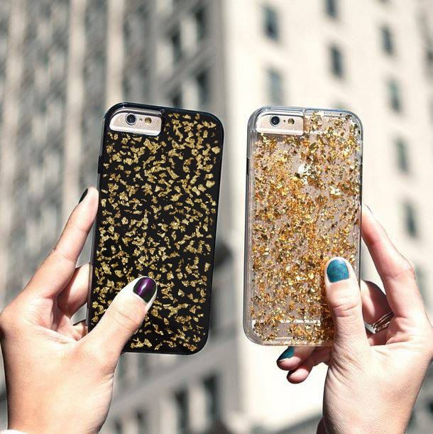 Gold 24K Real Gold Luxury Slim Hard Plastic Cover Case for iPhone Sony Samsung