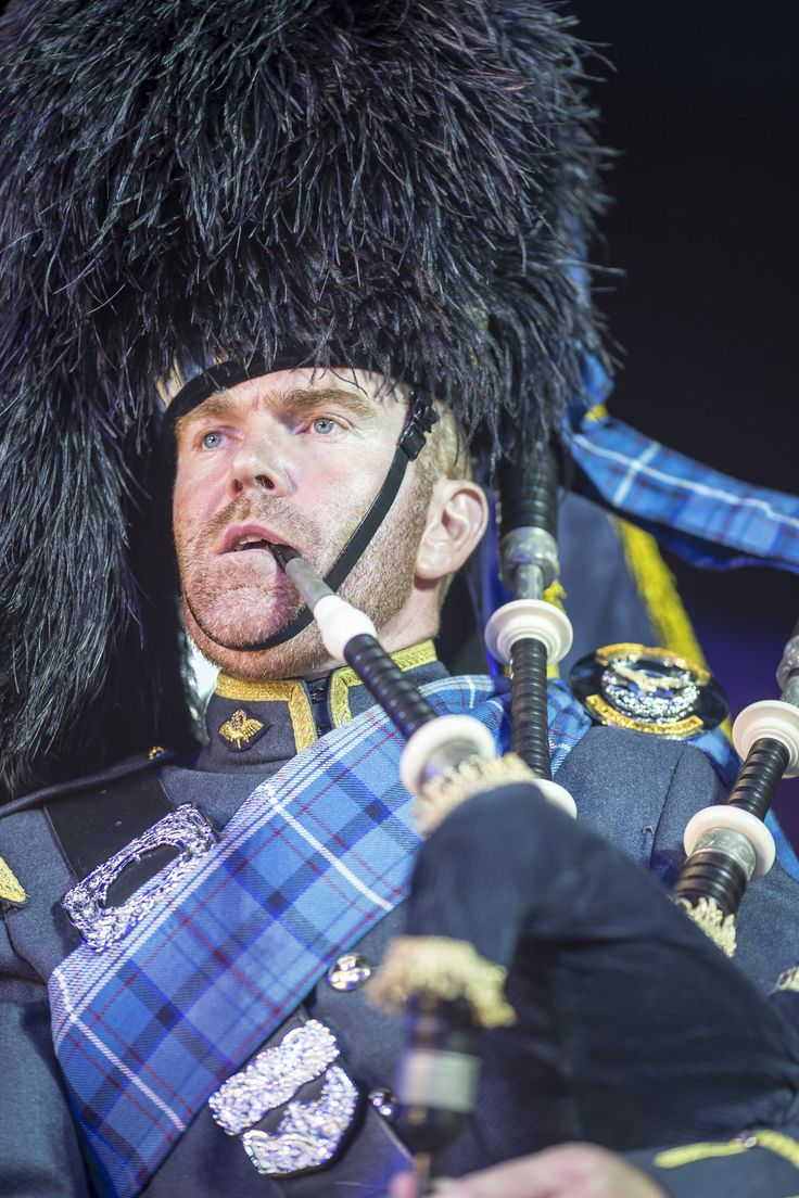 Basel Tattoo - Steven Ross from RAF Leuchars who was the lone piper several nights