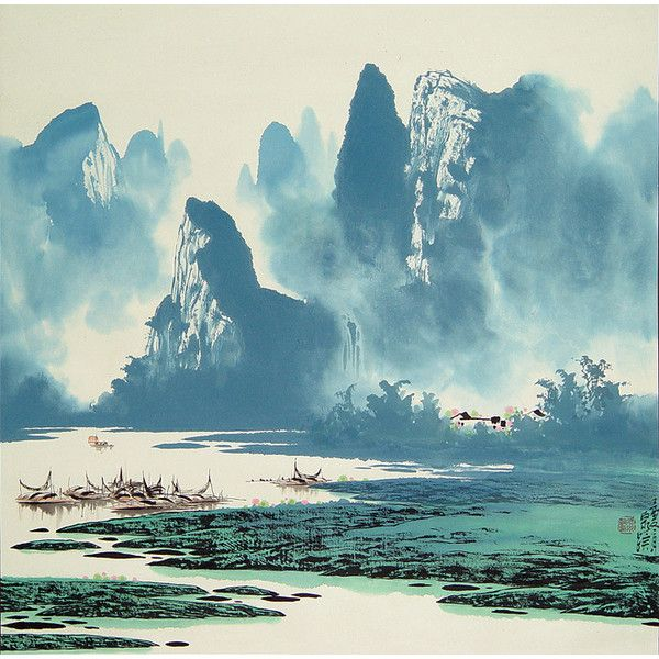 Chinese Painting landscape P09008. Chinese art painting ...