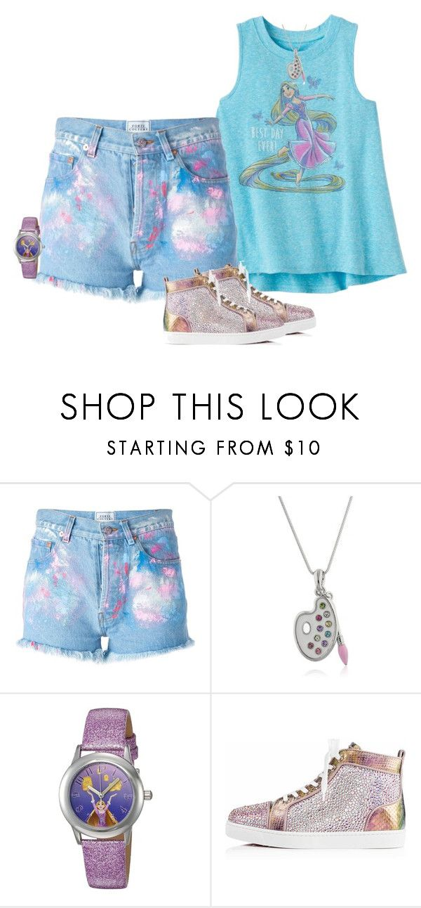 """""""Rapunzel/Tangled Disneybound"""" by seafreak83 ❤ liked on Polyvore featuring Disney, Forte Couture, Christian Louboutin, disney, rapunzel, disneybound, disneycharacter and disneybounding"""