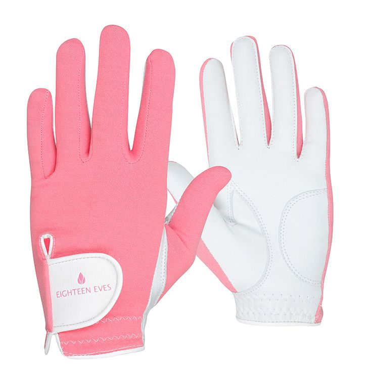 This ladies golf glove is fashioneered with a flexible back, allowing your grip to form easily. The palm is made from soft Cabretta leather that acts like a second skin, giving your hands enough protection without compromising the connection of your swing. Material: Cabretta Leather with Lycra Back Style: Pretty in Pink Hand: Left and right Size: XS – XL