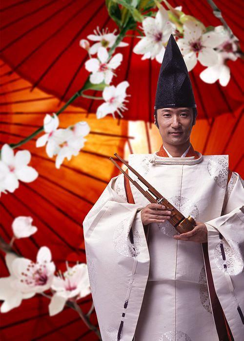 Japanese musician, Hideki Tougi 雅楽師