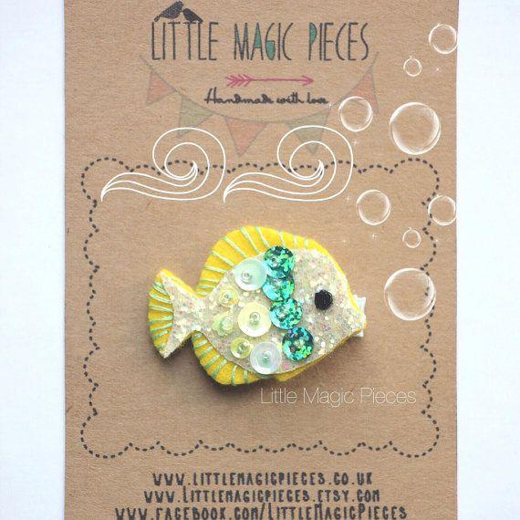 Little Fish Hair Clip Summer Under The Sea por LittleMagicPieces, £8.47