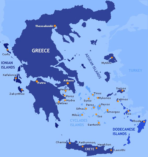 Map Of Greece And Islands Google Search Greek Islands