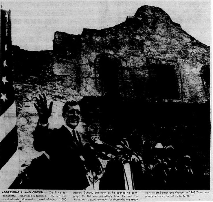 Sept. 9, 1968, photo from the Express of Edmund Muskie visiting San Antonio as 1968 vice presidential candidate. For more, click on the link.