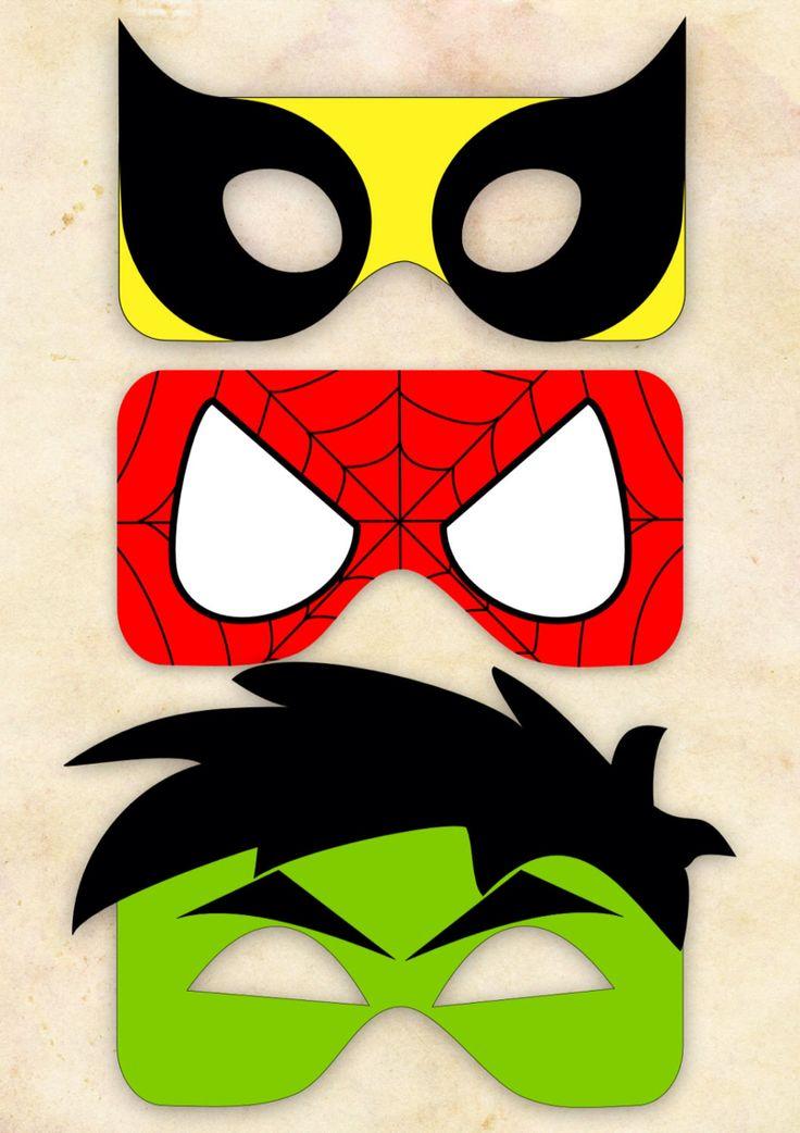 Máscaras para imprimir superheroes