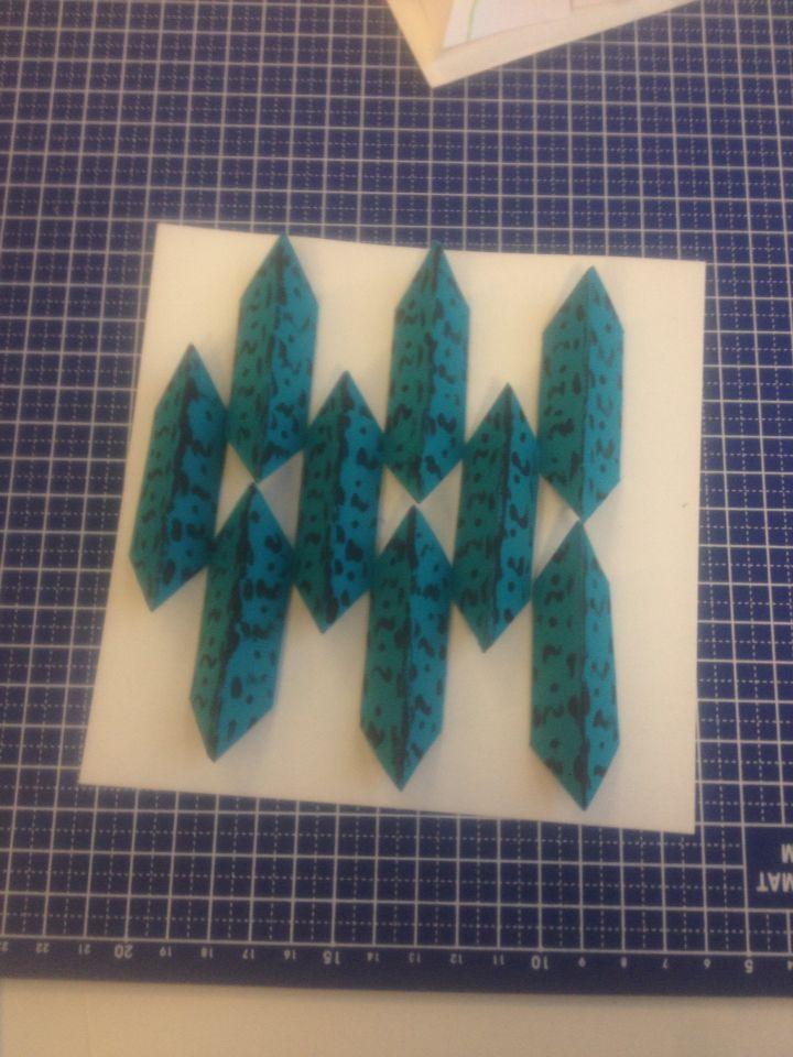 Symmetrische vormen patroon