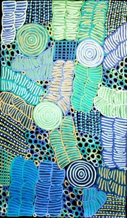 Awelye III - Aboriginal Art by Betty Mbitjana.  150cm x 90cm, acrylic on canvas  $6,000.00 inc GST