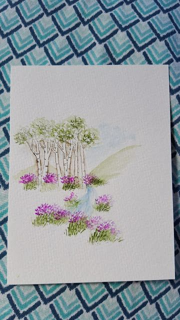 Art Impressions Watercolor.  Handmade card.