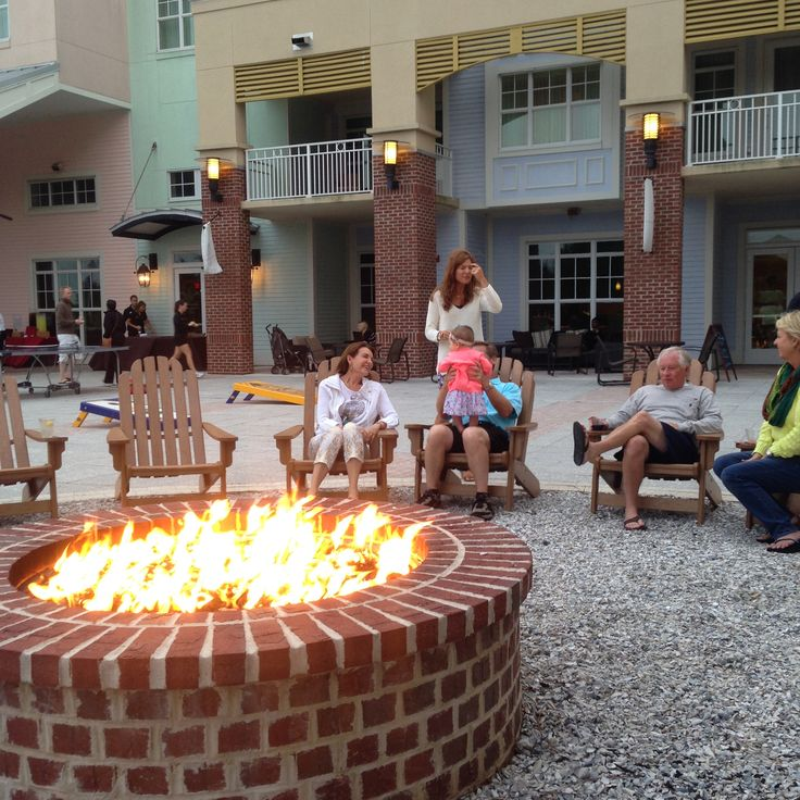 Our new Firepit is located at the core of the Resort on the Village Plaza. Its central location and ample outdoor plaza space make it a perfect year-round spot for hosting your own custom catered private event, s'mores or cocktail happy hour or teambuilding activity. Sand in the summer switches to oyster shells in the fall for added Lowcountry ambience with every season. Contact our Group Sales Team at 866.499.7142 to explore the possibilities. #meetinthewild http://wilddunesmeetings.com