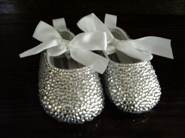 Reserved for Shannon - Crystal Baby Shoes - Size 3. $40.00, via Etsy.