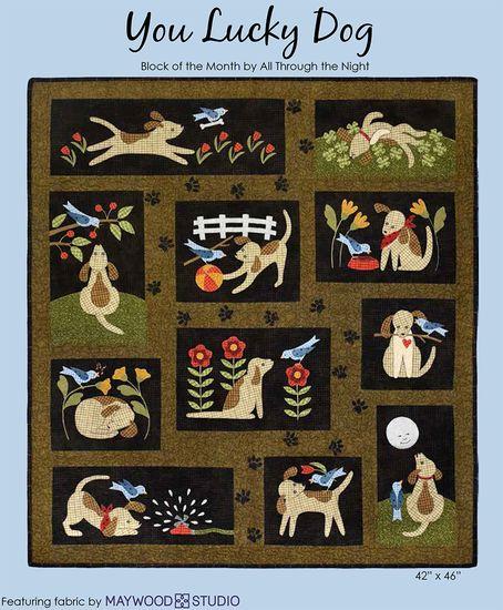 Complete Patronenset You Lucky Dog - Quiltshop Vlijtig Liesje