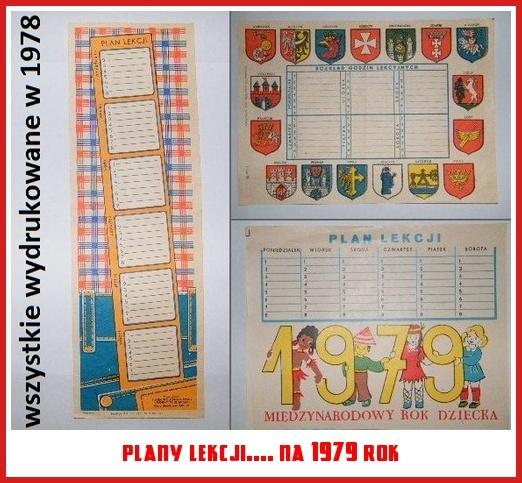 plany lekcji.... na 1979 rok
