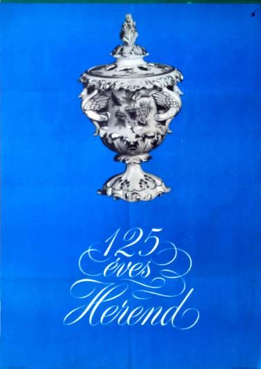 Herend Porcelain Factory is 125 years old (1965)