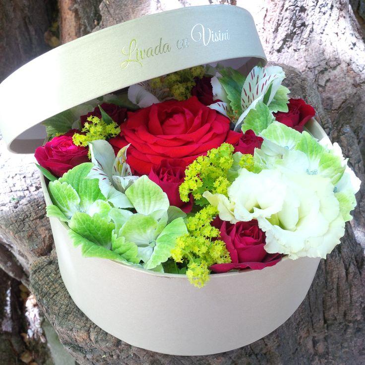 *in interiorul cutiei si se poate pune capacul  marimea cutiei S(13cm)-70 RON  marimea cutiei M(17cm)-100 RON marimea cutiei L(20 cm)-130 RON -pentru alte dimensiuni, cereti oferta -pentru comenzi peste 10 buc, personalizam oferta #flowers #box #flowersinabox #flowerbox #flowersbox #gift #livadacuvisini #paulamoldovan #cutiecuflori #floriincutie