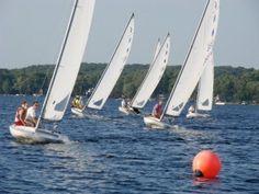 Sailboat races on Nagawicka Lake!