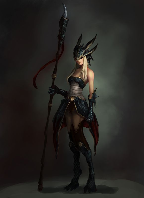 Warrior dress. Most Ashen soldiers are female and use spears to damage the enemy's wings (if they have any)