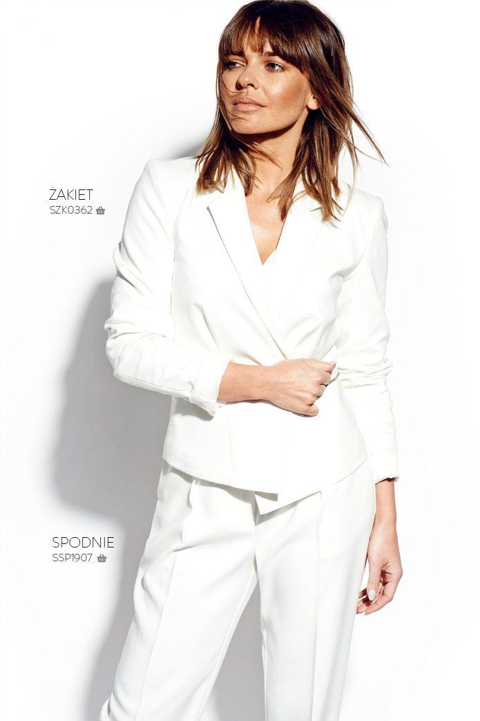 Biały żakiet damski #topsecret
