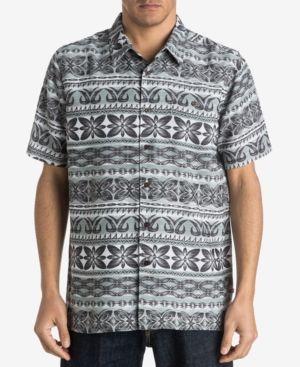 Quiksilver Waterman Men's Lono Printed Shirt - Gray XL