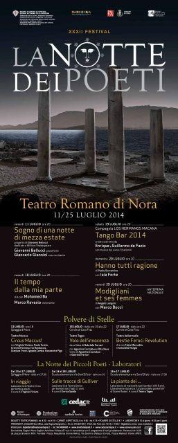 XXXII Festival La Notte dei Poeti al Teatro Romano di Nora