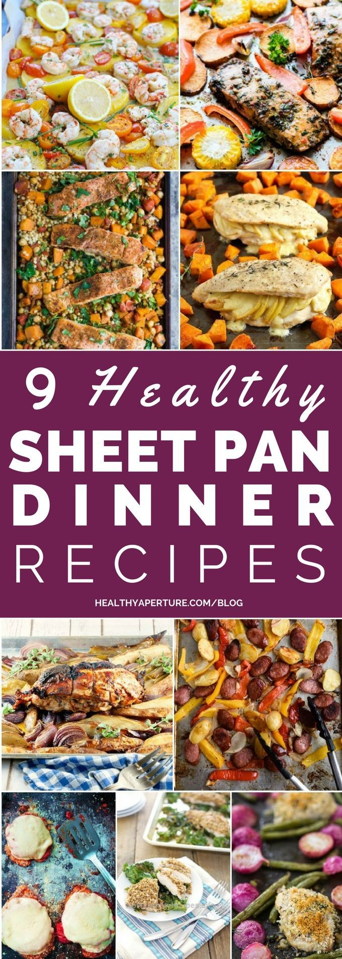 Terrific One pan dinners make cleanup a breeze! Here are 9 Healthy Sheet Pan Dinner Recipes perfect for busy nights!  The post  One pan dinners make cleanup a breeze! Here are 9 Healthy Sheet Pa ..