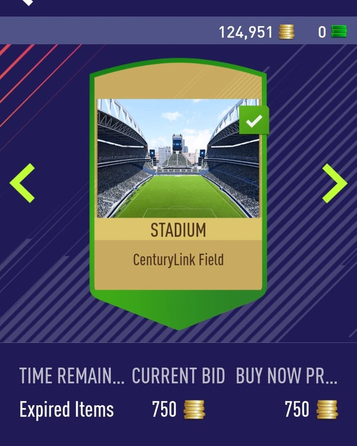 CenturyLink Field Stadium In FIFA18. Just been sold on my transfer list. 750 FIFA Coins.