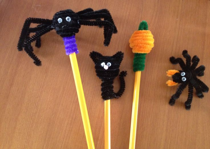 halloween limpiapipas lapices pipe cleaner www.facebook.com/LunaticosMR