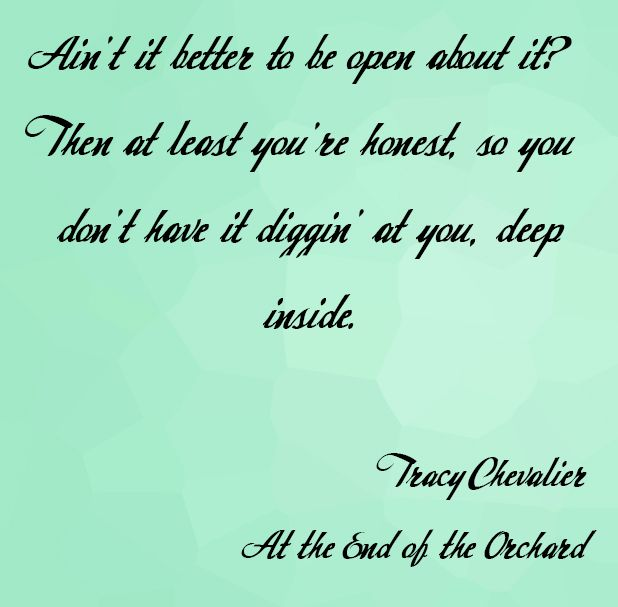 Book Quote from the novel At the End of the Orchard by Tracy Chevalier