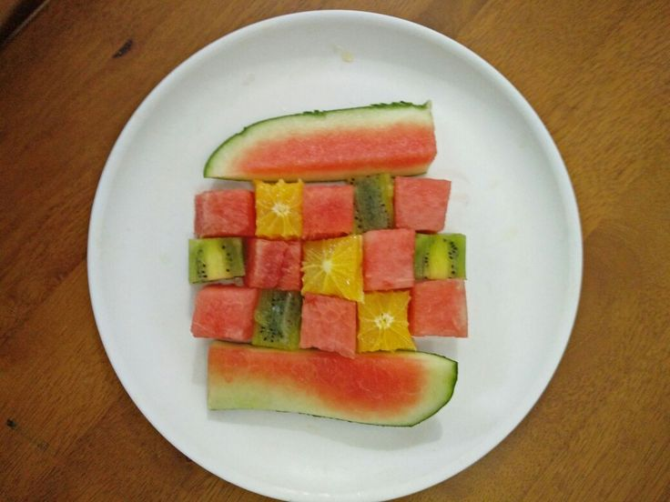 Cubes of fruits