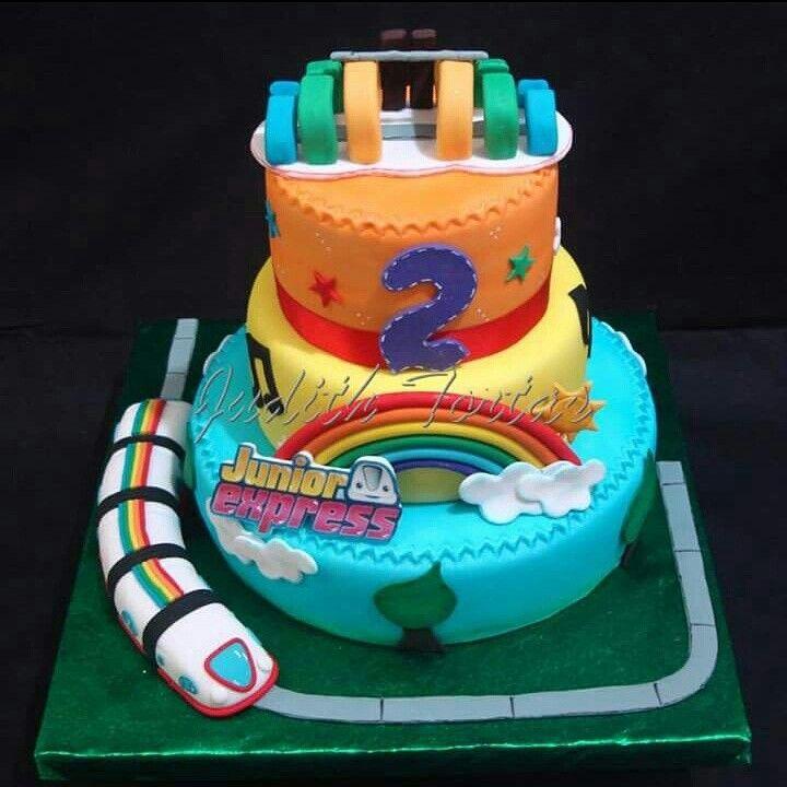 """Fondant cake """"Junior Express"""""""