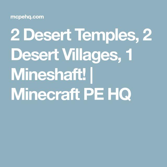 2 Desert Temples, 2 Desert Villages, 1 Mineshaft! | Minecraft PE HQ