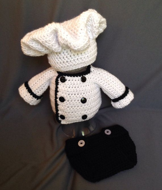 Crochet Baby Chef Hat Pattern Free : 17 Best images about A Crocheted Baby on Pinterest ...