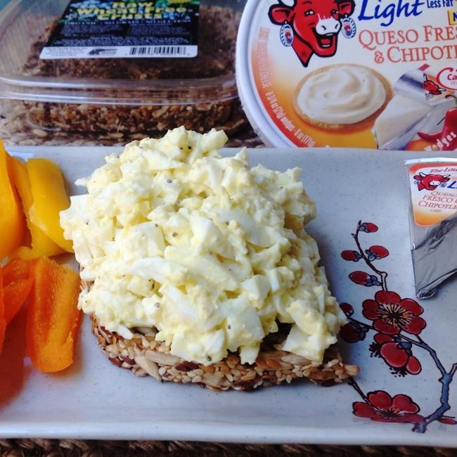 Egg Salad recipe using The Laughing Cow Light Queso Fresco & Chipotle