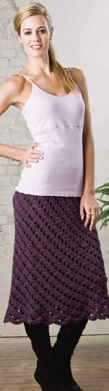 Crochet skirt pattern free