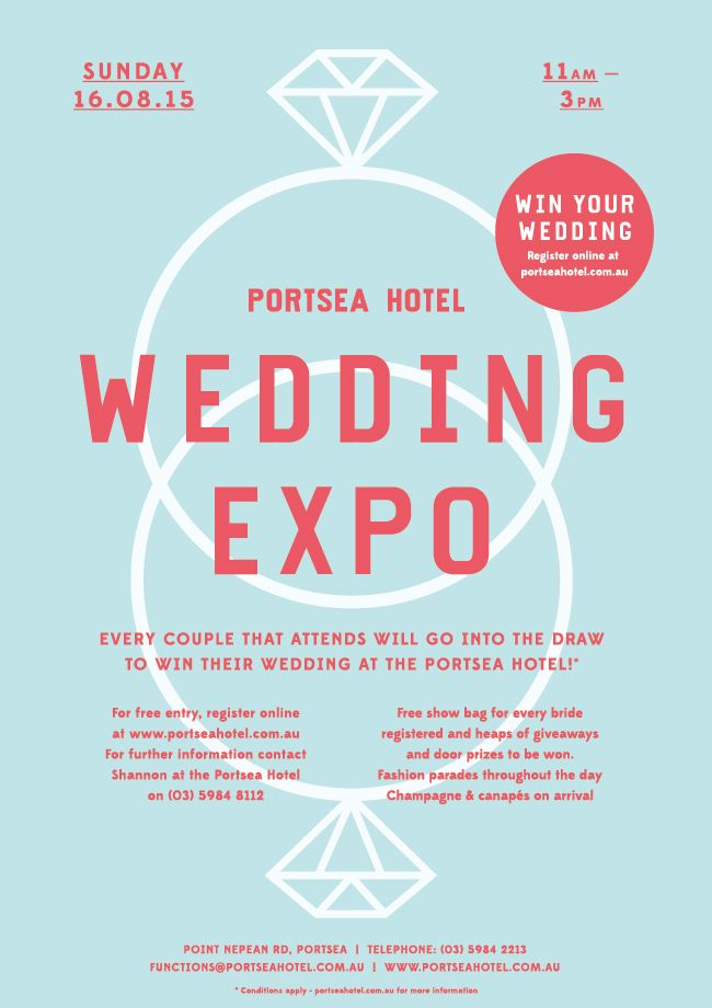 Every couple that attends our wedding expo goes into the draw to win their wedding at the Portsea Hotel, visit or call us on (03) 5984 2213 to know more about portsea Hotel Wedding Expo.
