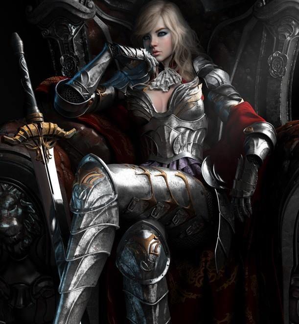 Tattoo Woman Knight: Warrior....personne Peut Croisé Les Jambes En Full Plate