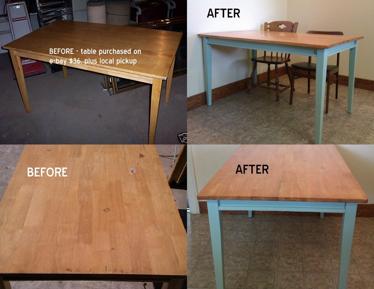 my new kitchen table after a lot of washing sanding