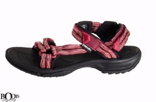 Teva Terra Fi Lite Palm Red Sandals - Women's