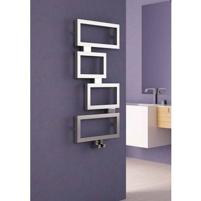 Carisa Clash Stainless Steel Designer Heated Towel Rail 920mm x 450mm