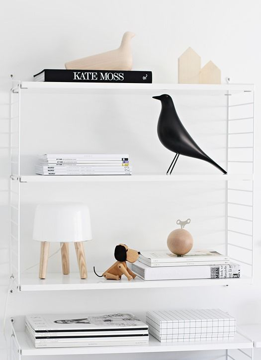 Via Nordic Leaves | Home Office | Black Wood White | Eames Bird | Milk Lamp | String System